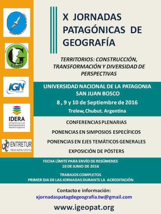 Poster X Jornadas Patagonicas de Geografìa